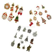 7/11/24pcs Assorted Tibetan Christmas DIY Jewelry Charms Pendant Beads Findings