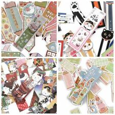 30Pcs/box Cartoon Animal Cute Cat Rabbit Styles Paper Bookmarks DIY Message Card