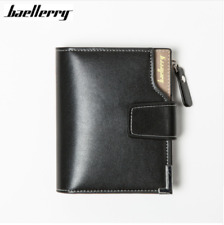 Short men Wallets Genuine Leather+PU male hasp Purse Card Holder Wallet