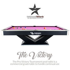 New Pool Table 8 ft & 9 ft Rasson Victory II Pro - Tournament Billiard Tables