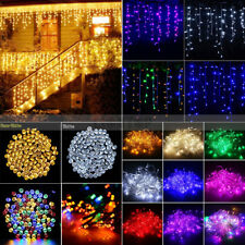 20-500 LED Icicle Snowing Hanging Curtain Fairy String Light Wedding Xmas Party