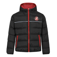 Sunderland AFC Official Soccer Gift Boys Quilted Hooded Winter Jacket