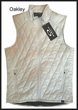 OAKLEY Mens $85 WINDCHASER DIAMOND QUILTED VEST Jacket SILVER M/L Brand New