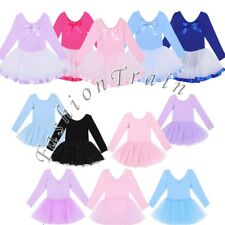 Gymnastics Girls Kids Leotard Ballet Dress Tutu Skirt Dancewear Costume SZ 2-12