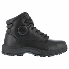 Iron Age Mens Black Leather 6in Sport Boots Ground Finish Steel Toe