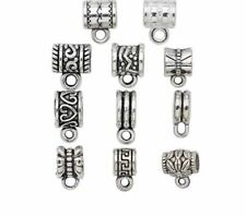 20pcs Silver Plated Beads Bracelet And Necklace Charms For Jewelry Making