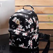 Black Color Printed Pattern PU Leather Small Backpack For Teenager Girl 1716