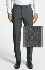 NWT HUGO (Red Label) by Hugo Boss Patterned Wool Blend Stretch Dress Pant