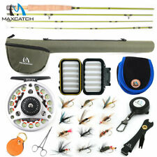 For Small Stream 1wt 2wt 3wt Fly Fishing Rod Outfit 6' 7.5' Fly Reel Line Tube