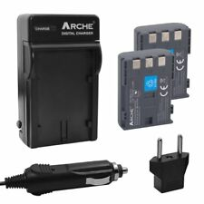 ARCHE (2) Battery and Charger for CANON NB-2L NB-2LH BP-2L5 BP-2LH and Rebel XT