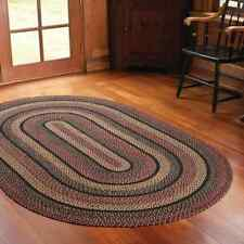Blackberry Braided Area Rug By IHF Rugs. Oval & Rectangle. Many Sizes.