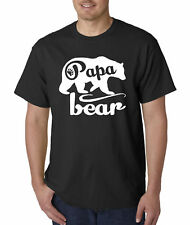 New Way 787 - Unisex T-Shirt Papa Bear Grizzly Father's Day Padre Paternal