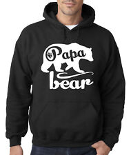 New Way 787 - Hoodie Papa Bear Grizzly Father's Day Padre Paternal