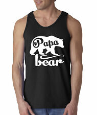 New Way 787 - Men's Tank-Top Papa Bear Grizzly Father's Day Padre Paternal