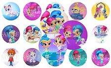 Shimmer and Shine Pre-Cut 1 Inch Bottle Cap Images (7 Options)