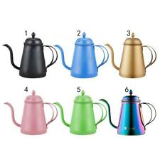 Stainless Steel Espresso Percolator Cappuccino Pot Hand Drip Kettle 6 Colors