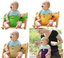 Portable Baby Dining High Chair Harness Safety Seat Belt