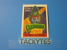 1988 DINOSAURS ATTACK! SINGLE BASE CARD(S)