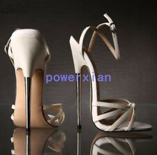 """New Sexy UK Womens 7""""inches High Heels Wedges Sandals stilettos with steel heels"""