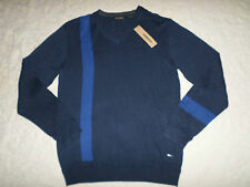 DKNY JEANS SWEATER MENS SIZE XXL V-NECK NAVY & BLUE COLOR LONG SLEEVES NEW NWT