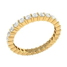 14k Gold Full Eternity Band 0.99 Ct Round Cut D/VVS1 Prong Set Anniversary Ring