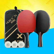 1 Pairs Training Table Tennis Racket Double Reverse Glue +3 Table Tennis +Bag