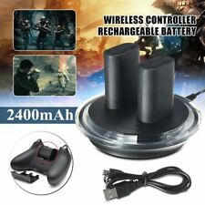 2x Rechargeable Battery + Charging Charge Dock Station For XBOX ONE  LOT KG