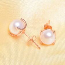 Women Silver Color Plated Pearl Decorated Party Wear Stud Earrings