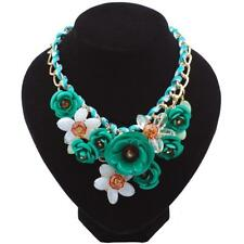 New Fashion Women Chain Acrylic Crystal Flowers Wedding Party Casual SYL6
