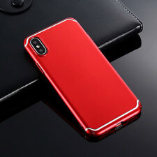 For iPhone X 8 7 6s iPhone 8 Plus Full Cover Slim Skin Touch Feel Hard Back Case