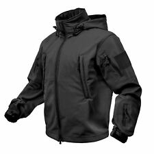 Rothco Special Ops Tactical Soft Shell Waterproof Jacket Coat Black #9767