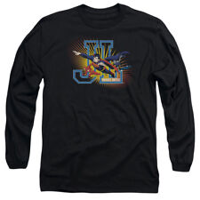 Justice League JL: HEROES UNITED Licensed Adult Long Sleeve T-Shirt S-3XL
