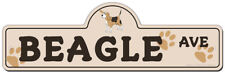Beagle Street Sign | Funny Home Décor Garage Wall Lover Plastic Gag Gift