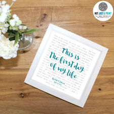 Bright Eyes 'First Day Of My Life' - Framed Lyrics Poster - Personalised Gift