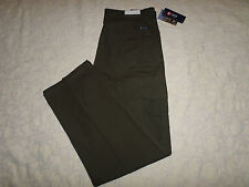 CHAPS CARGO PANTS MENS SIZE 34X34 DARK GREEN MULTI-POCKET DESIGN NEW WITH TAGS