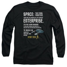 Star Trek Original Series INTRO Dialogue Adult Long Sleeve T-Shirt S-3XL
