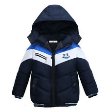 Outerwear Coat Hooded Jacket Kids Warm Cotton-Padded Clothes Boys Jacket