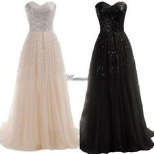 New Women Sexy Strapless Sequins Cocktail Party Ball Gown Evening Long WT88