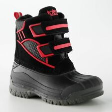 TODDLER BOYS' TOTES BLACK & RED WINTER BOOTS SIZE 5T 8T NIB RETAIL $44.99!!!