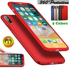 For iPhone X 10 Mosafe® 360° Protective Slim Hybrid Case Cover+Screen Protector