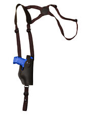 NEW Barsony Vertical Brown Leather Shoulder Holster Taurus Compact 9mm 40 45
