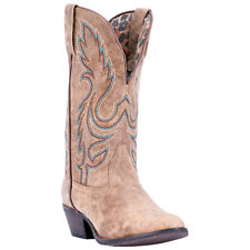 Laredo Womens Tan Cowboy Boots Leather Cowboy Boots R Toe
