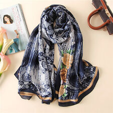 Scarf summer and spring silk scarves soft oversized pashmina beach stoles hijab