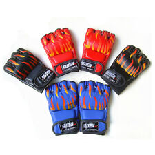 Boxing Gloves Faux Leather Half Finger Fight Muay Thai Training Mitts Goodish