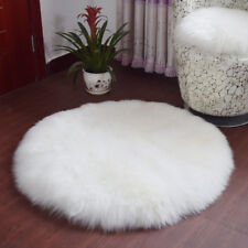 Dia. 40cm/60cm/90cm Round Faux Wool Kids Play Mat Crawling Rug Floor Carpet