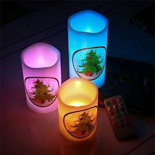 LED Flameless Candles With Christmas Tree 12 Colors Xmas House Decoration NEW