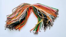 Jewelry Wholesale Lots 100 pcs Mixed Color Twist Leather Cord Necklace .