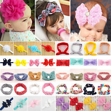 Baby Toddler Girls Kids Rabbit Big Bow Knot Turban Headband Hair Band Headwrap
