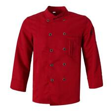 Fashion Double-Breasted Long Sleeve Chef Jacket Coat Uniforms for Mens Womens