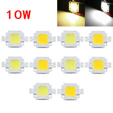 10pcs 10W Cool/Warm White High Power 30Mil SMD LED Chip Bulbs Flood Light Bead
